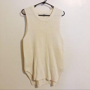 Madewell sleeveless tunic sweater